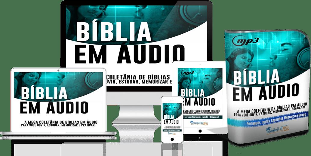 pack biblia em audio min - Kit Bíblia em Áudio Vários Idiomas
